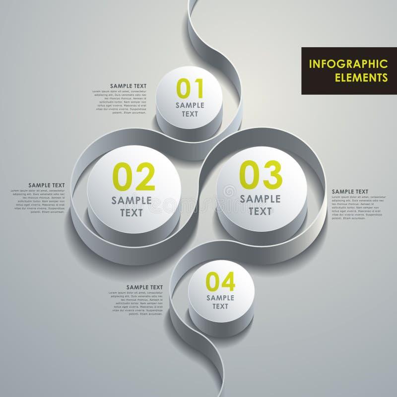 抽象3d圆筒infographics 向量例证