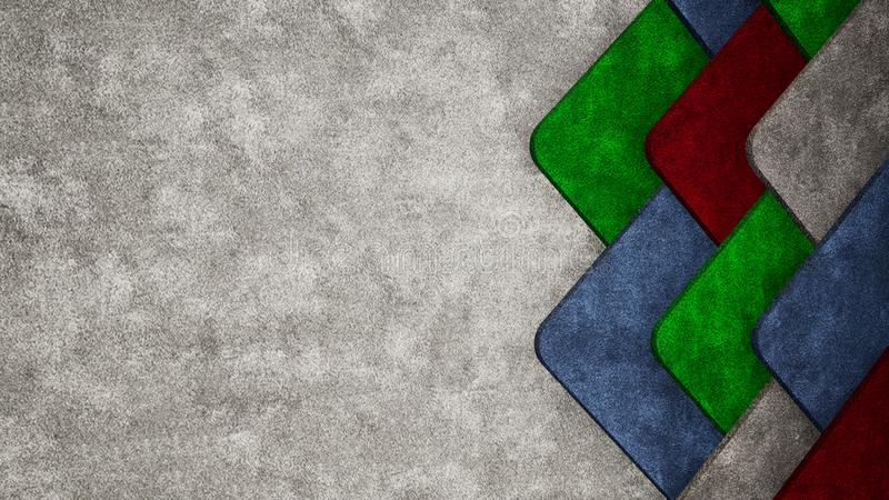 抽象3D地毯纹理例证背景 向量例证
