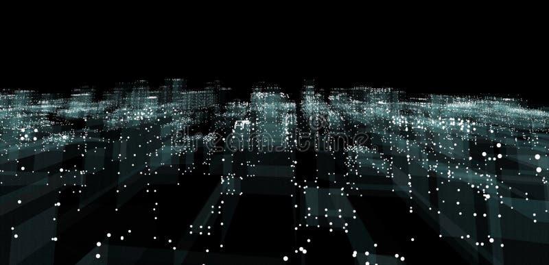抽象3d城市翻译 向量例证