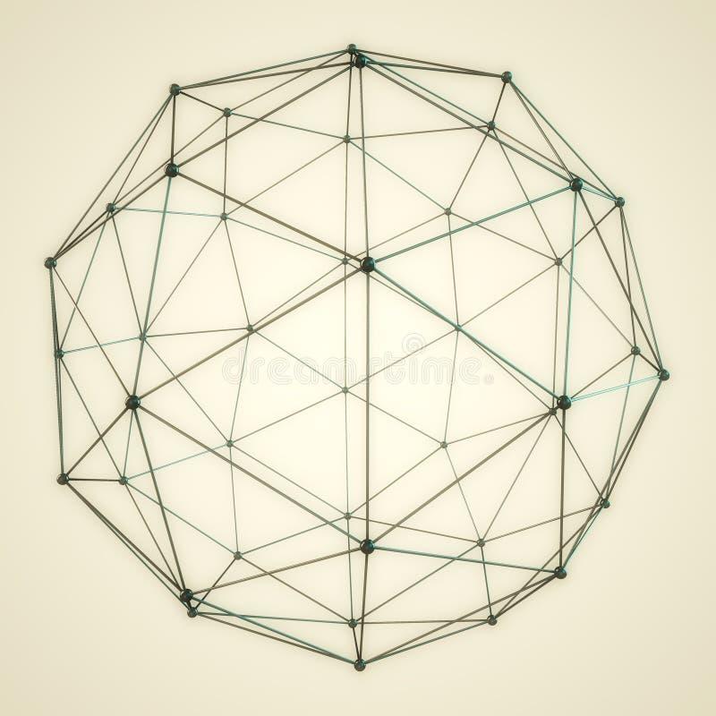 抽象3D球形 库存例证