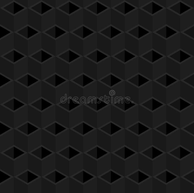 抽象3d立方体管子样式背景 皇族释放例证
