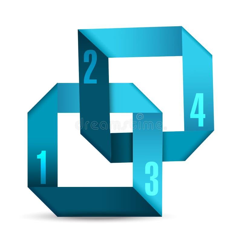 抽象3D纸Infographics例证 向量例证