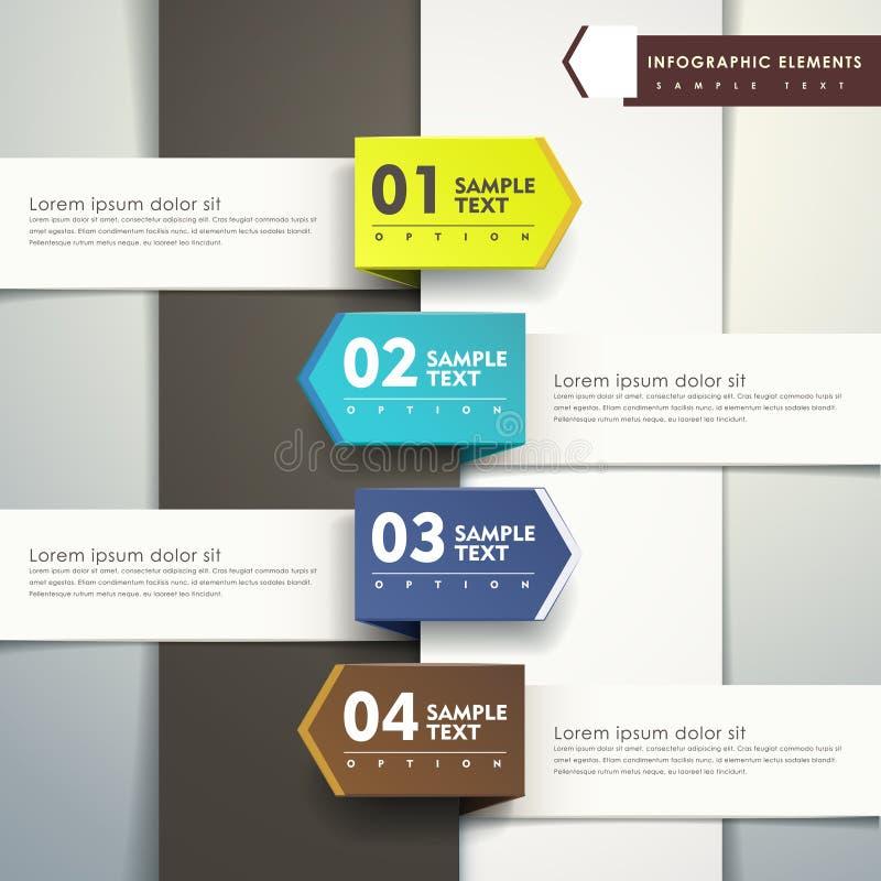 抽象3d纸infographics 库存例证
