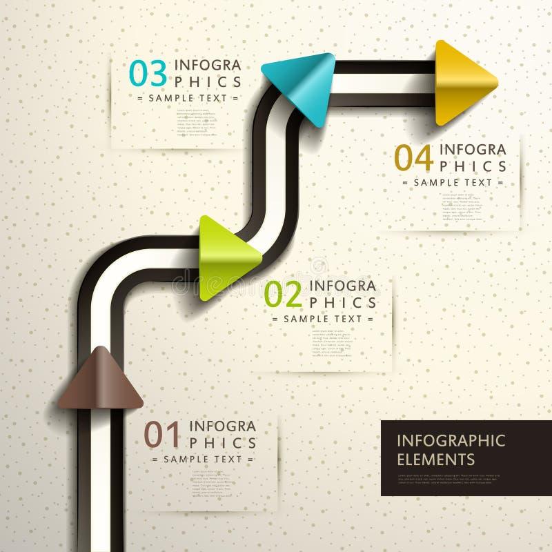 抽象3d纸infographics 向量例证