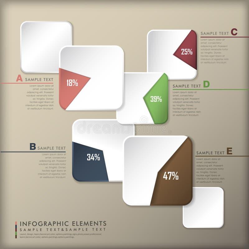 抽象3d纸infographics 皇族释放例证