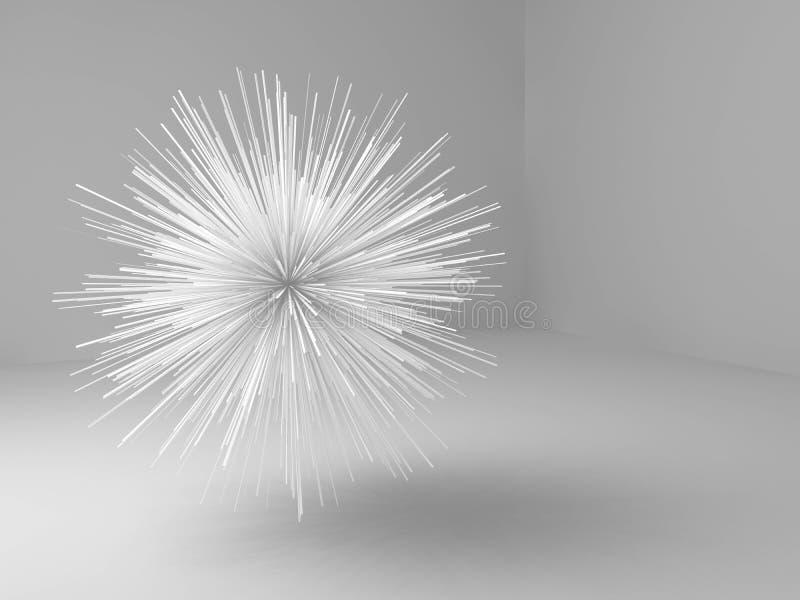 抽象3d锋利的星状对象 库存例证