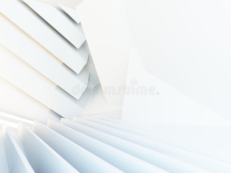 抽象3d建筑背景 皇族释放例证
