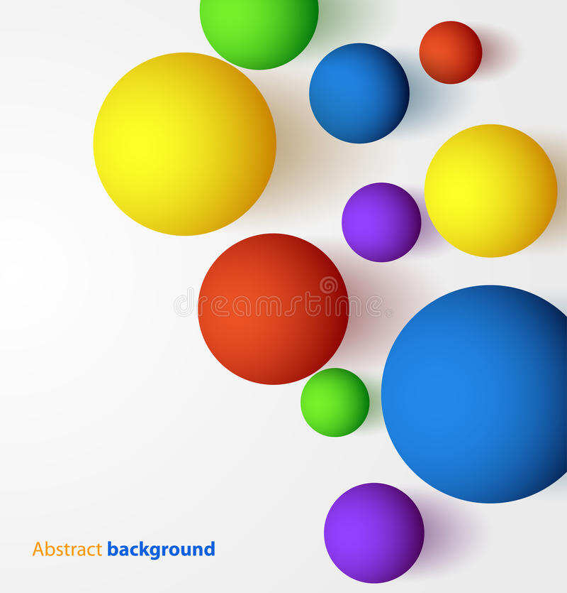 抽象3D五颜六色的球的背景 库存例证