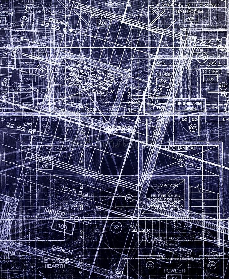 抽象archecture计划 免版税库存图片