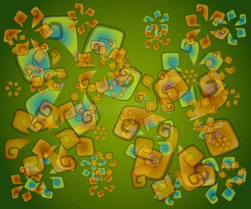 抽象artsy绿色纹理 库存例证