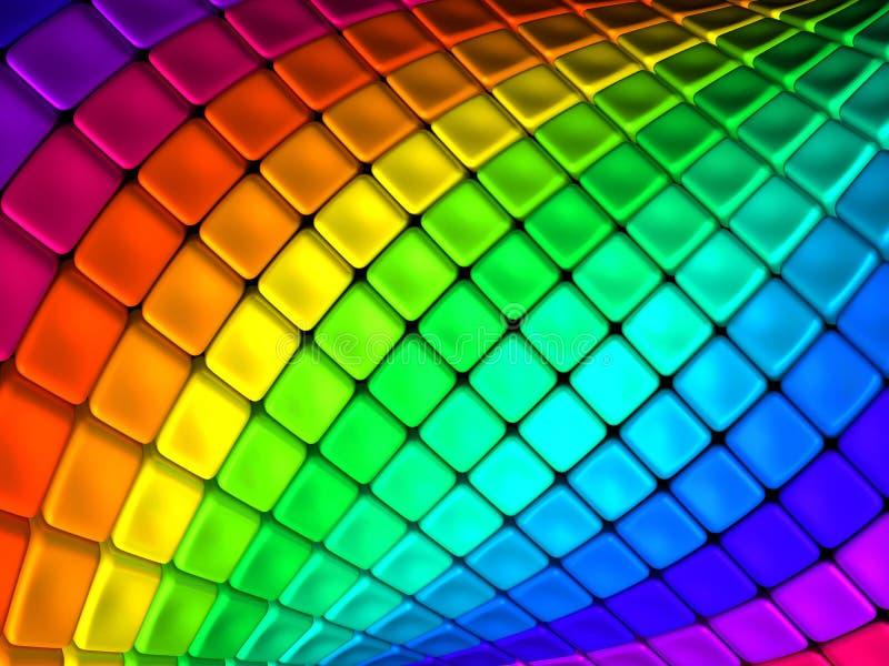 抽象backgroun五颜六色的多维数据集 向量例证