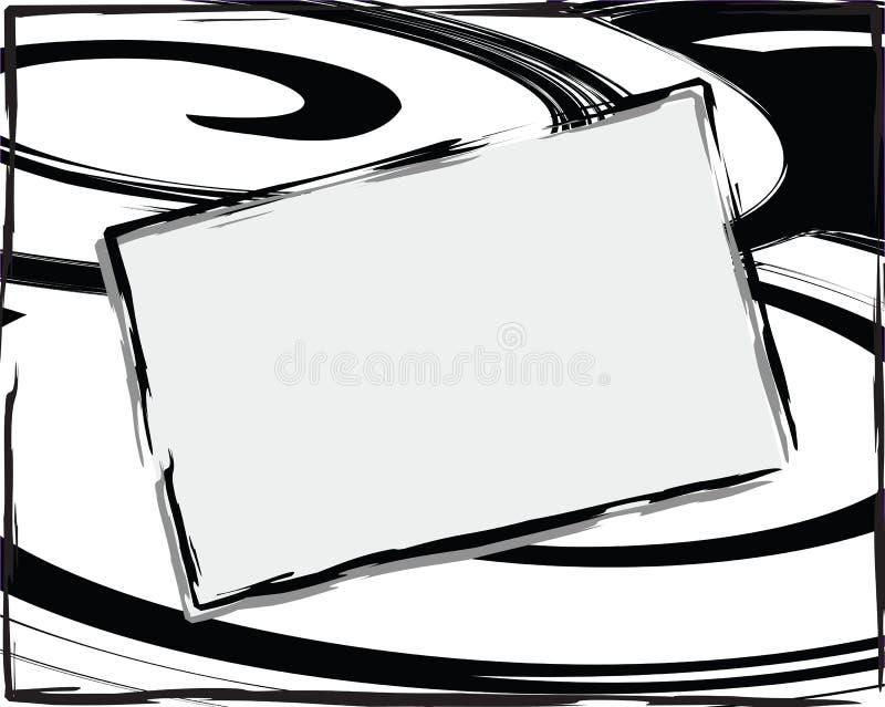 抽象backgroun黑色白色 向量例证