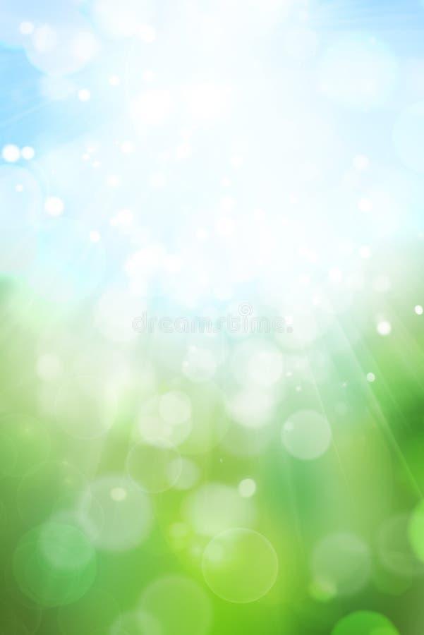 抽象bokeh绿色 皇族释放例证