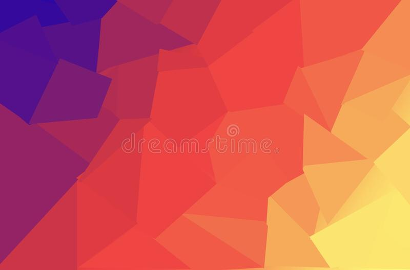 抽象bokeh背景,蓝色和黄色圈子,明亮的颜色 库存例证
