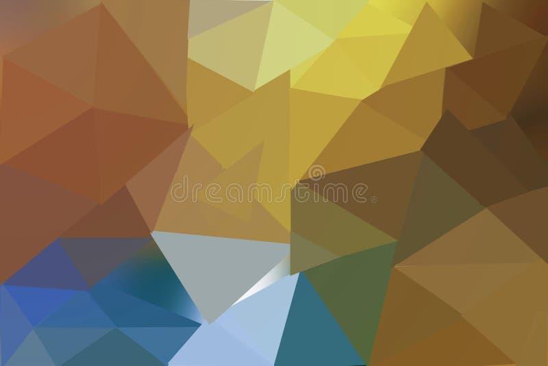 抽象bokeh背景,蓝色和黄色圈子,明亮的颜色 向量例证