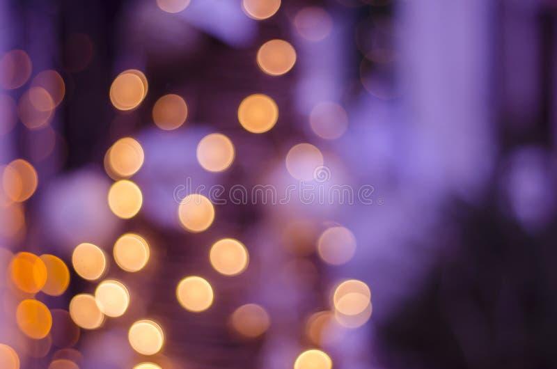 抽象bokeh被弄脏的颜色光背景 圣诞节的,党,假日墙纸迷离光 免版税图库摄影