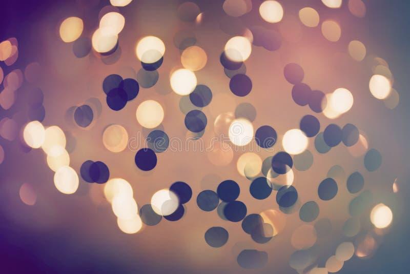 抽象bokeh闪烁的光线影响 库存例证