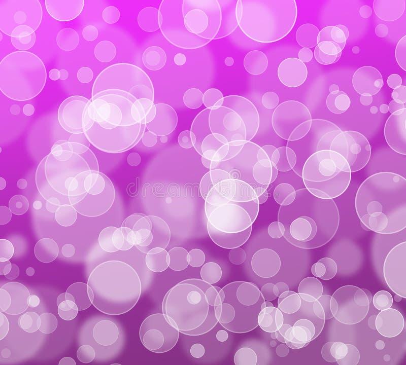抽象bokeh闪烁背景,软绵绵地幸福时间的紫色,乐趣和微笑 向量例证