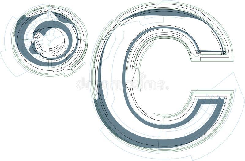 抽象celcius标志 皇族释放例证
