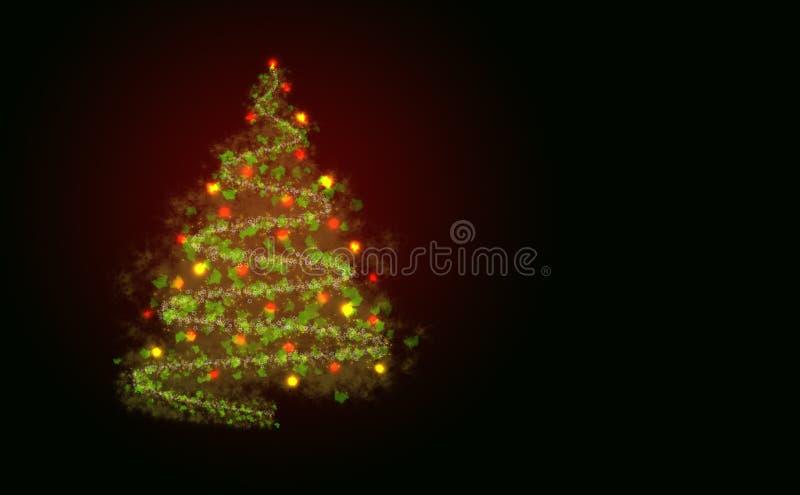 抽象christmass结构树 皇族释放例证