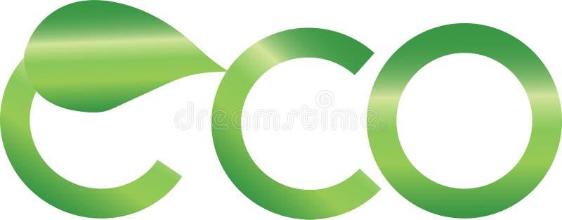抽象eco商标 免版税库存照片