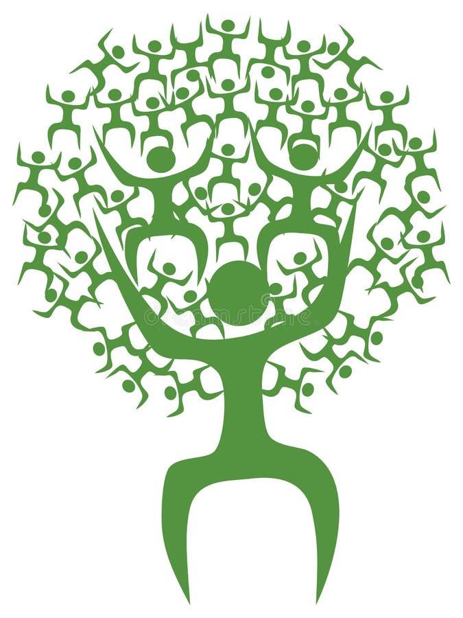 抽象eco没经验的工作人员结构树 皇族释放例证