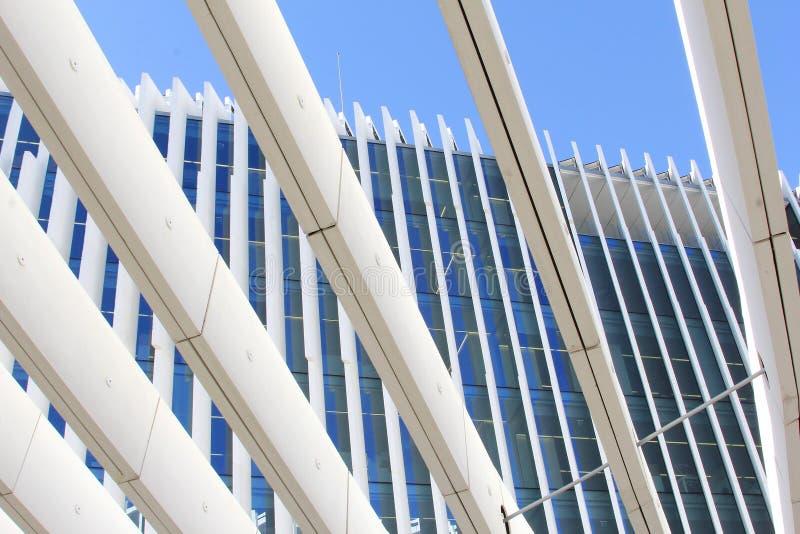 抽象EDP总部设大厦,里斯本,葡萄牙 免版税图库摄影