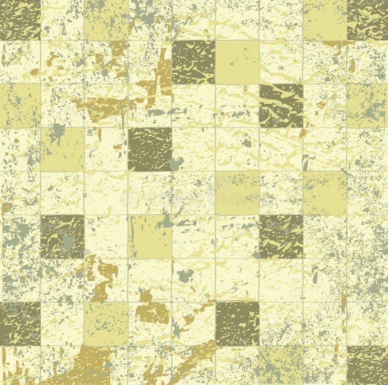 抽象grunge马赛克光栅瓦片 向量例证