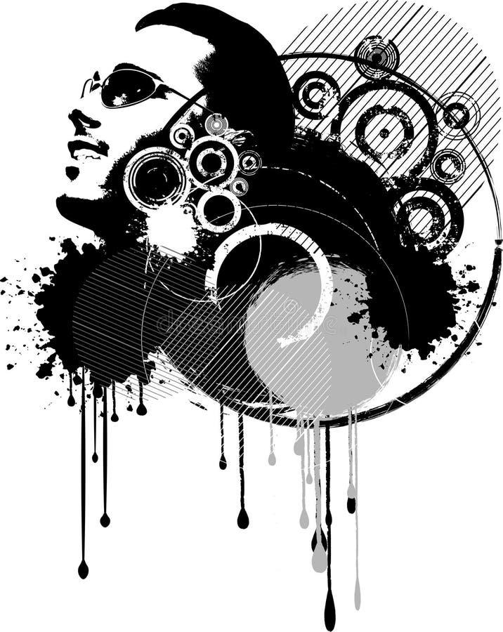 抽象grunge 皇族释放例证