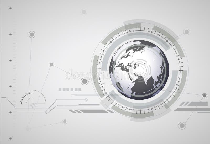 抽象hitech数字式全球性背景 库存例证