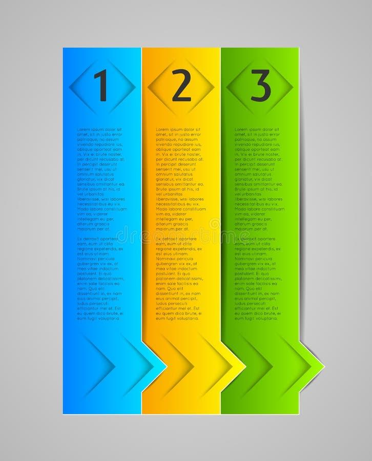 抽象infographic模板 向量例证