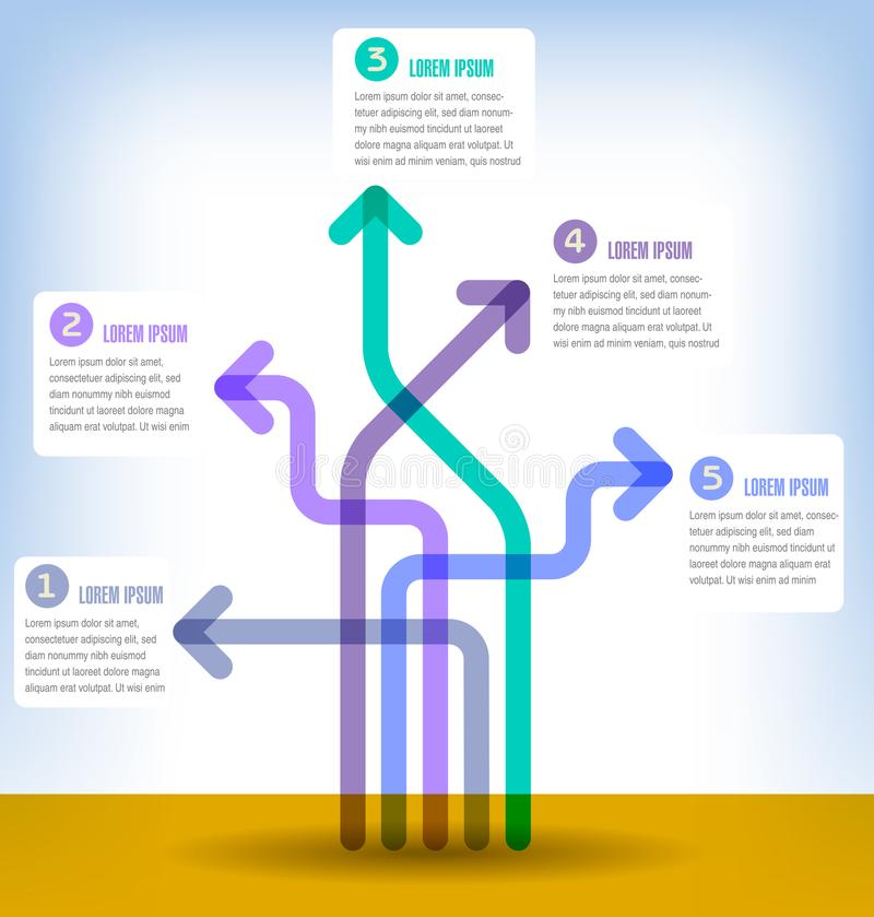 抽象infographics数字选择模板例证 能为工作流布局,图,企业步选择, banne使用 皇族释放例证