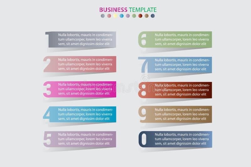 抽象infographics数字选择模板 也corel凹道例证向量 能为工作流布局,图,企业步选择使用 向量例证