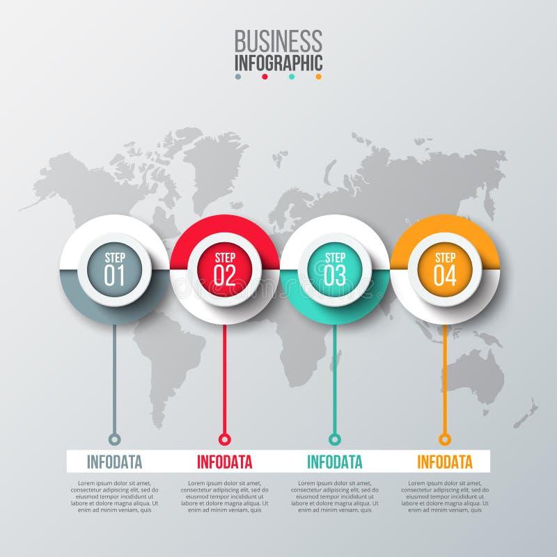 抽象infographics数字选择模板 库存例证