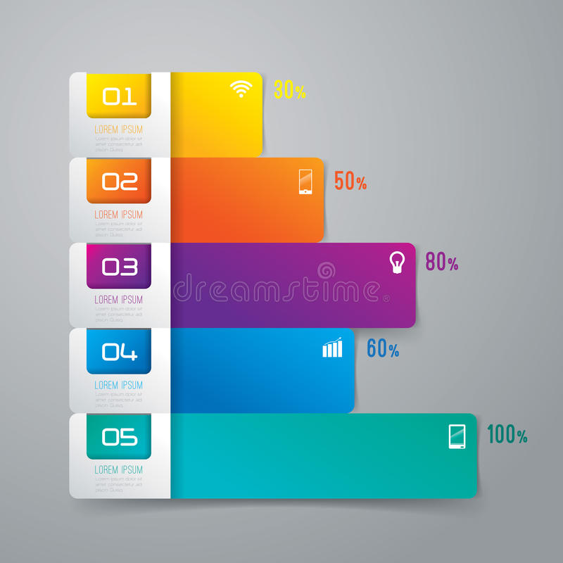 抽象infographics模板设计。 向量例证