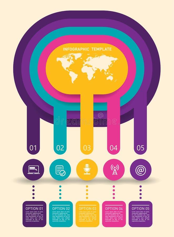 抽象infographics模板 向量例证