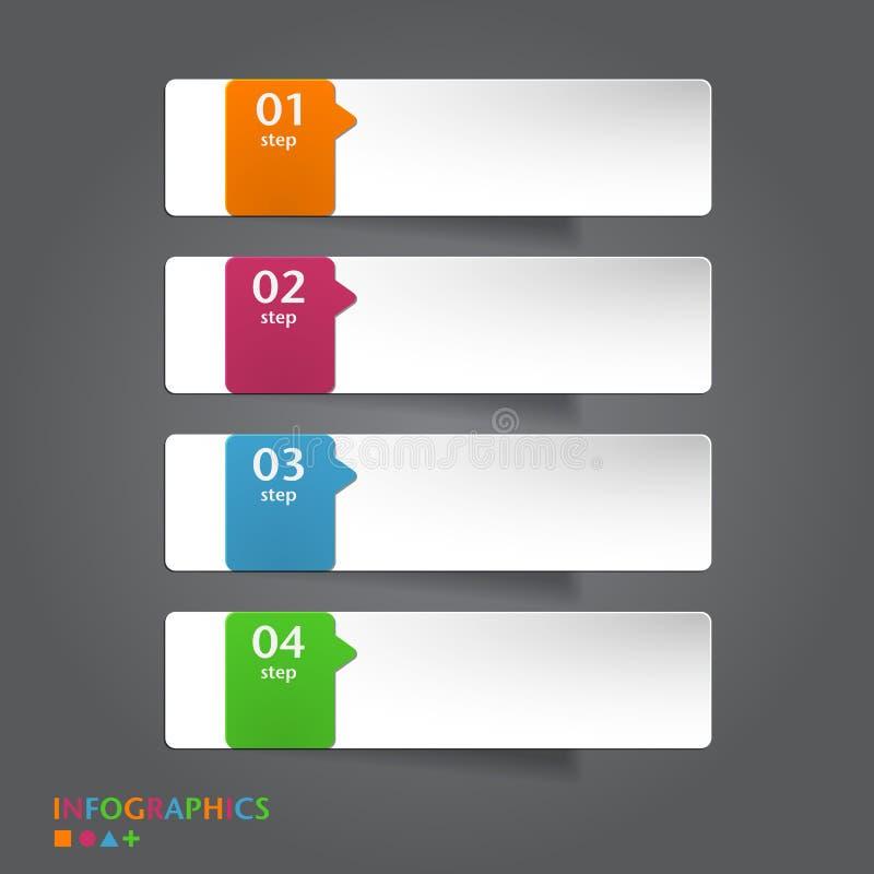 抽象infographics横幅,标签,标记设计t 皇族释放例证