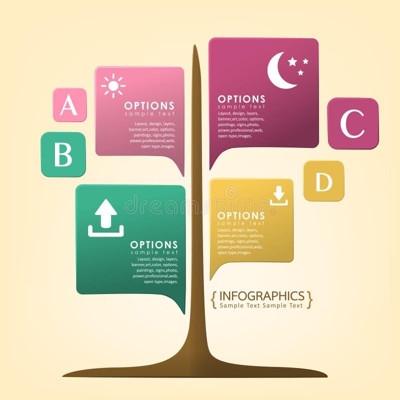 抽象infographics设计 向量例证