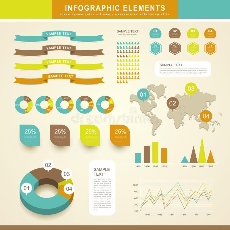抽象infographics 皇族释放例证