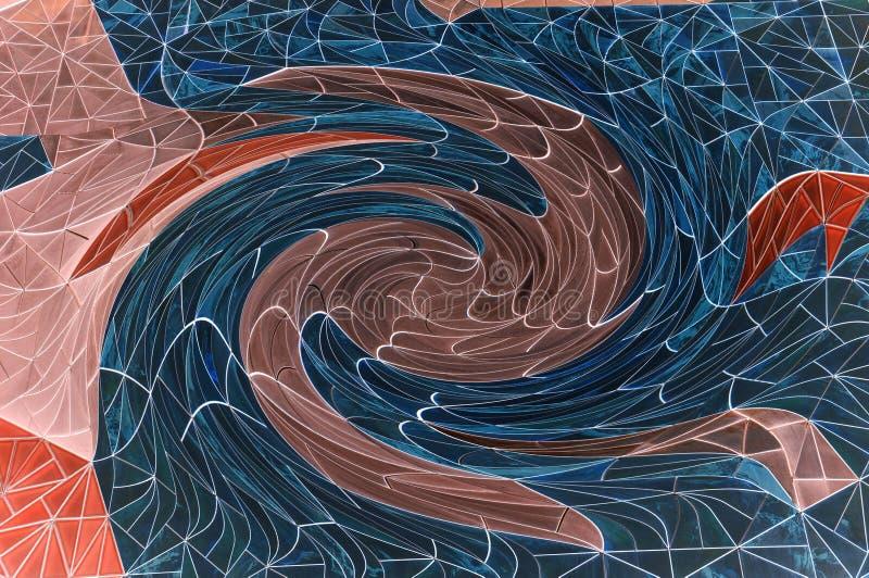 抽象misteri转动曲线栅格multicolors背景,奇迹转弯漩涡奇妙创造性的设计模板 库存例证