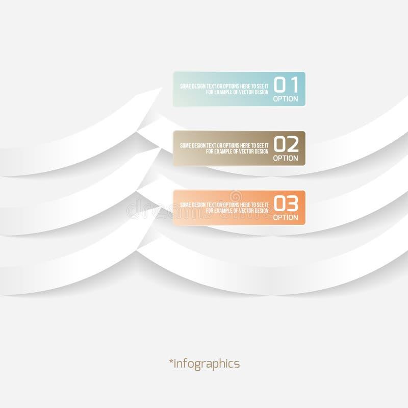 抽象Origami样式纸Infografics 皇族释放例证