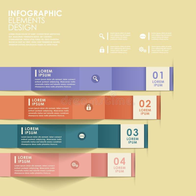 抽象origami横幅infographics 向量例证