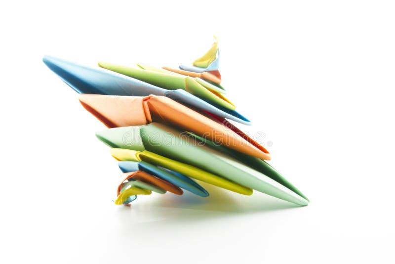抽象origami螺旋 免版税库存照片