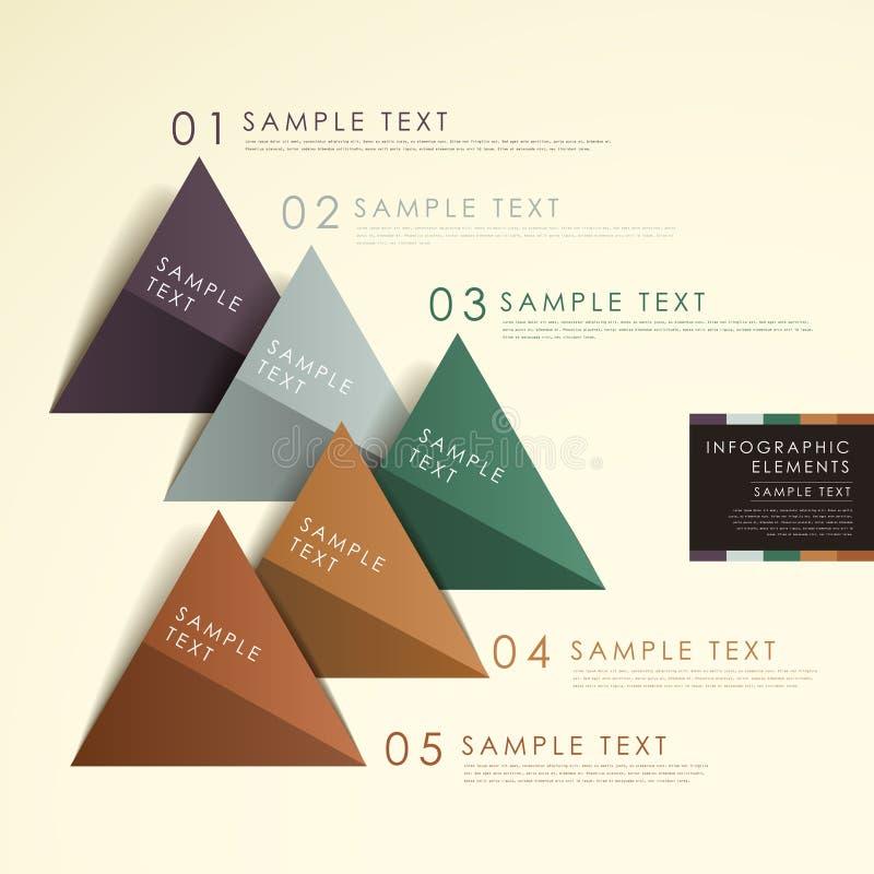 抽象origami金字塔图infographics 库存例证