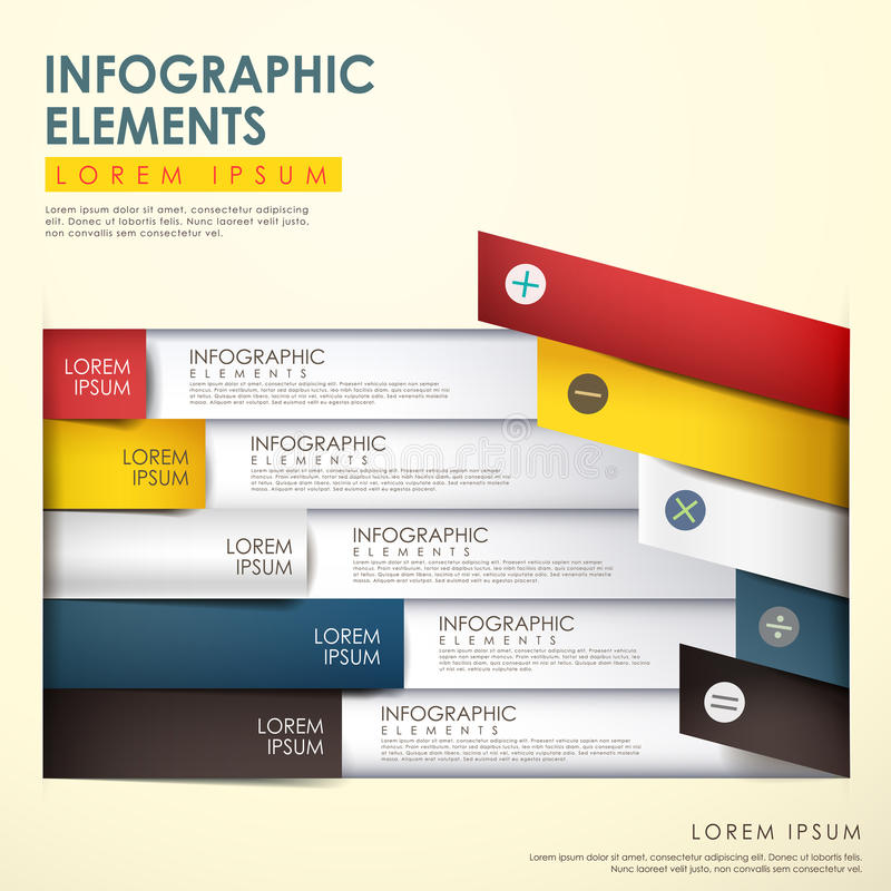 抽象origami infographics 皇族释放例证