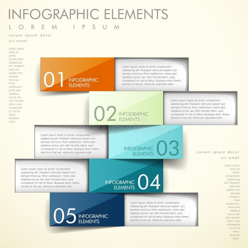 抽象origami infographics 库存例证