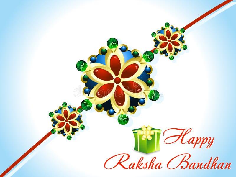 抽象raksha bandhan rakhi背景 向量例证