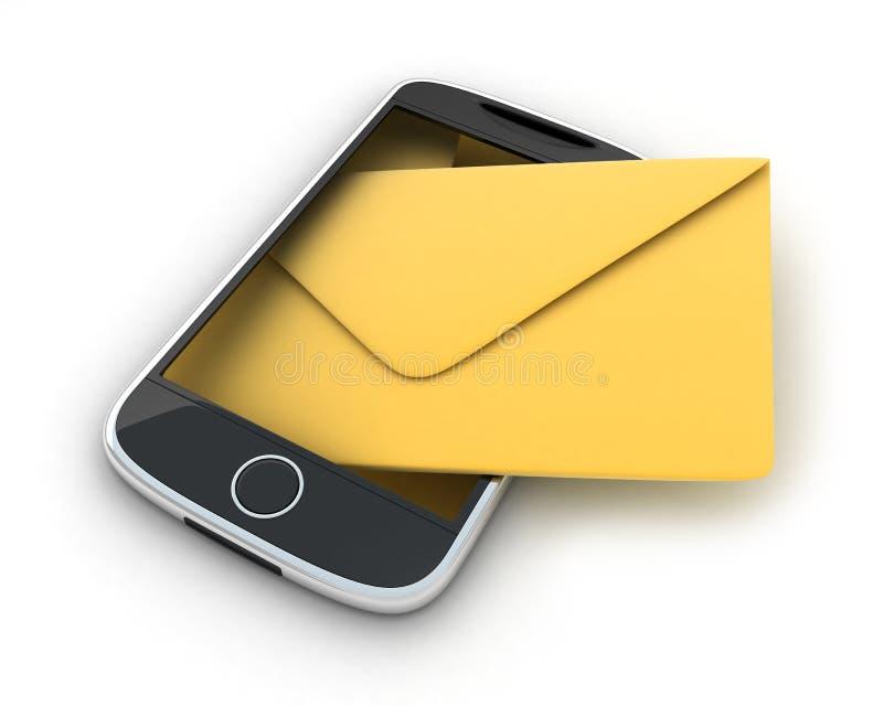 抽象sms 库存例证