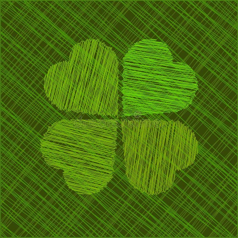 抽象St. Patricks日向量例证 皇族释放例证