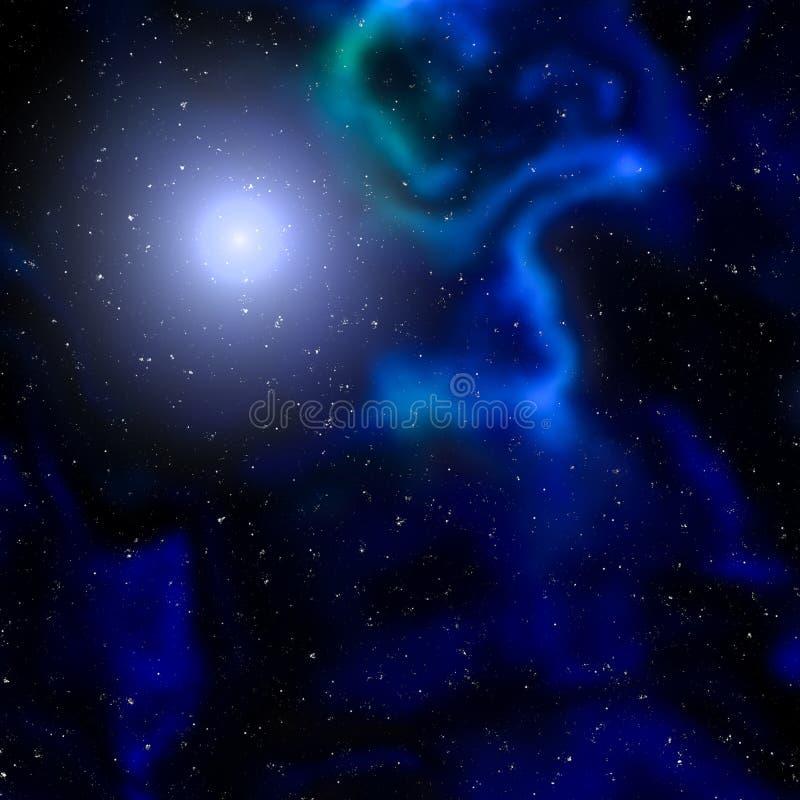 抽象Starfield和星云 向量例证